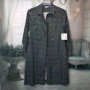 Liz Claiborne trench coat sz. 10 black/white